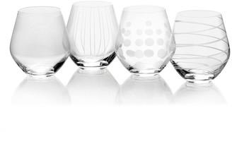 Mikasa Cheers 4-pc. Stemless Wine Glass Set