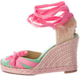 Christian Louboutin Wrap-Around Wedge Espadrilles