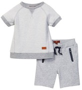 7 For All Mankind Pop-Over Top & Athletic Short 2-Piece Set (Baby Boys)