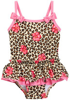 Little Me Leopard Floral One-Piece Swimsuit (Baby Girls)