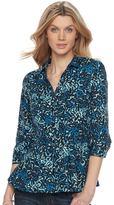 Dana Buchman Women's Pleated Peplum Shirt