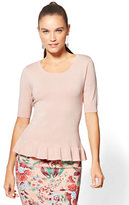 New York & Co. 7th Avenue - Ruffled Peplum Sweater