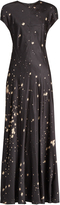 Alexander Wang Splatter-print satin maxi dress