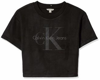 Calvin Klein Jeans Women's Short Sleeve Sweatshirt Monogram Logo