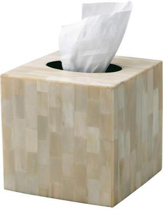 OKA Square Tissue Box Cover, Bone
