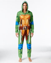 Briefly Stated Men's Leonardo Ninja Turtle Hooded One-Piece Pajamas