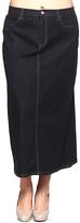 Be Girl Black Denim Maxi Skirt - Plus