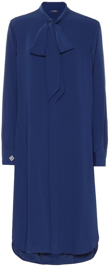 Polo Ralph Lauren Long-sleeved midi dress