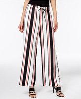Calvin Klein Striped Wide-Leg Pants