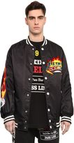 Kokon To Zai Pinball Patched Canvas Bomber Jacket