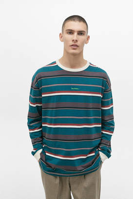Iets Frans... iets frans... Horizontal Stripe Blue Long Sleeve Tee