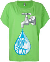 Moschino water print T-shirt - women - Cotton/Spandex/Elastane - XS