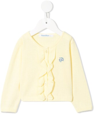 Familiar Embroidered Knitted Cardigan