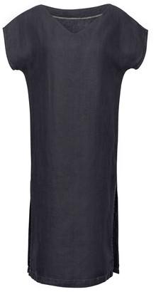 Une Forme EMMA Reversible Linen Dress In Coal