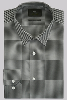Moss Bros Extra Slim Fit Black and White Single Cuff Puppytooth Shirt