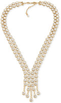 Carolee Gold-Tone Crystal Cascade Collar Necklace
