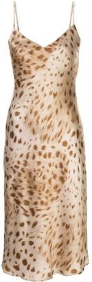 L'Agence Leopard Print Slip Dress