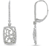 Julie Leah 3/4 CT Diamond Dangle Earrings in 14K White Gold with Lever Back