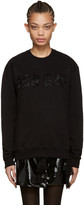 MSGM Black Safety Pin Logo Sweatshirt