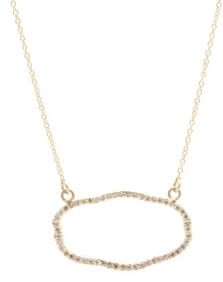 Armenta Sueno 18k Yellow Gold Diamond Organic Oval Necklace