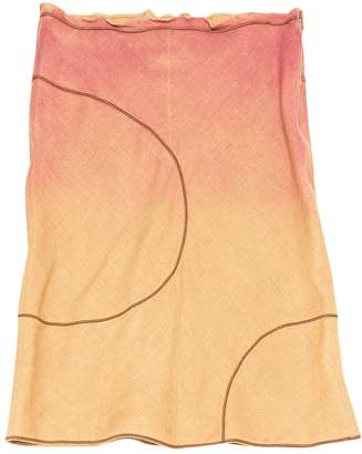 Fendi Pink Linen Skirts