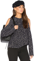 Rebecca Taylor Open Shoulder Boucle Pullover