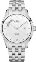 Edox Men's 83013 3 AIN WRC Automatic Day Date Stainless Steel Bracelet Watch