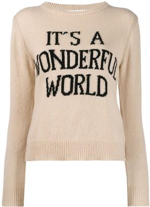 Alberta Ferretti 'It's a wonderful world' jumper