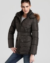 Add Down Parka with Fur Border