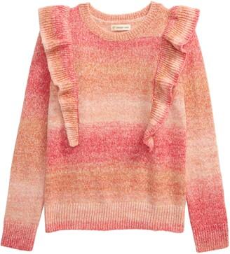 Tucker + Tate Space Dye Ruffle Cotton Blend Sweater