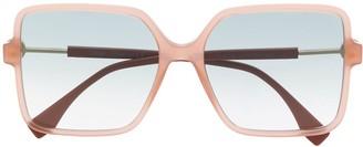 Fendi Eyewear Oversized Tinted Sunglasses