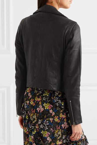 Madewell Textured-leather Biker Jacket - Black