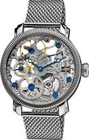 Akribos XXIV Men's AK526SS Bravura Stainless Mechanical Skeleton Mesh Bracelet Watch