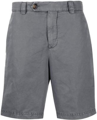 Brunello Cucinelli crinkled effect knee-length Bermuda shorts