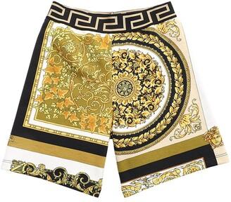 Versace Baroque Print Cotton Sweat Shorts