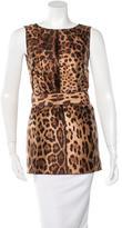 Dolce & Gabbana Belted Silk Tunic