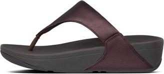 FitFlop Lulu Metallic Leather Toe-Post Sandals