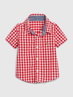 Gap Baby Gingham Button Down Shirt