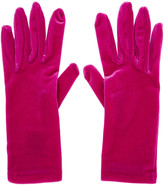 Balenciaga Pink Velour Panama Short Gloves