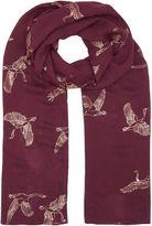 Joules Soft handle foil print scarf