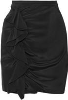 Rebecca Minkoff Jenson ruffled silk crepe de chine mini skirt