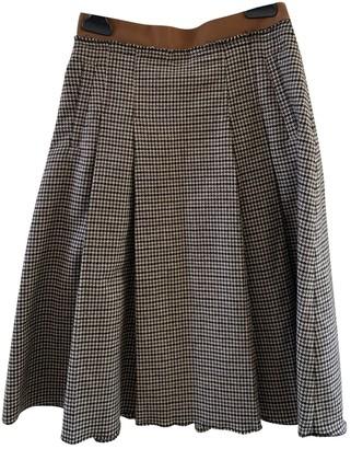 Dolce & Gabbana Beige Wool Skirt for Women