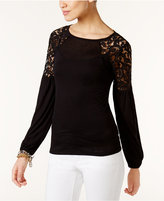 MICHAEL Michael Kors Lace-Inset Top