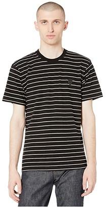 The Kooples Striped T-Shirt (Black/Ecru) Men's Clothing