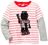 Joe Fresh Long Sleeve Fooler Tee (Baby Boys)