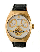 Heritor Oxford Mens Black Strap Watch-Herhr5503