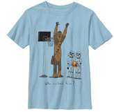 Fifth Sun Boys' Tee Shirts LT - Star Wars Light Blue Chewbacca Basketball Tee - Boys