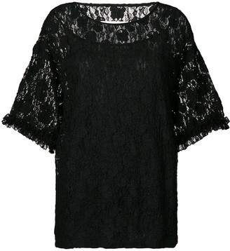 MM6 MAISON MARGIELA Oversized Lace Blouse