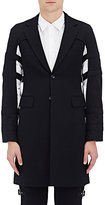 Comme des Garcons Men's Split-Sleeve Wool Gabardine Two-Button Topcoat-NAVY