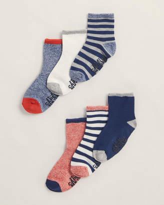 Capelli New York (Toddler Boys) 6-Pack Multi Pattern Ankle Length Socks
